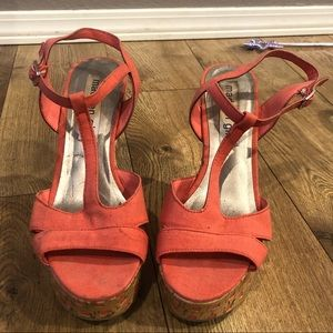 Coral Madden Girl wedges.